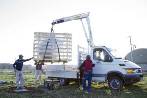 Michele Spanghero _installing Echea Aeolica in Siracusa 2105